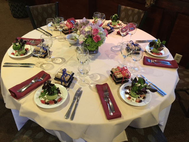 Affinity Yacht Charter Dinner Table